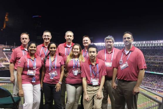 This is the wonderful group of people that I get to work with at the Twins. (Back L to R: John, Ryan, Jason, Brent, Wade, Tony. Front L to R: Shelley, Purvi, Cassie, Van)