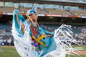One of the dancers performing on the field during Diversity Day.